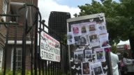 Views of missing posters and residents near the Grenfell Tower