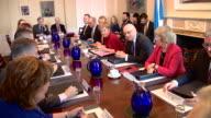 Views of Nicola Sturgeon's Scottish cabinet in the cabinet room