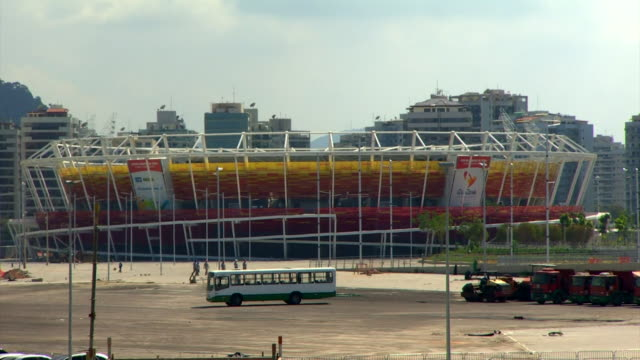 Views of stadiums including the Olympic Park in Rio de Janeiro