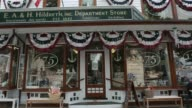 Views of the village center street in Southampton NY July 2223 2017 Photographer Timothy Fadek Shots wide pan right of shopping strip exterior pan...