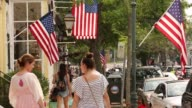 Views of the village center street in Southampton NY July 2223 2017 Photographer Timothy Fadek Shots generic footage and similar shots of sidewalks...