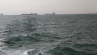 Views of the waters around Yemen where Saudi Arabia has imposed a blockade on imports