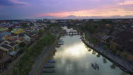 Views over Hoi An's famous Ancient Town at sunset.