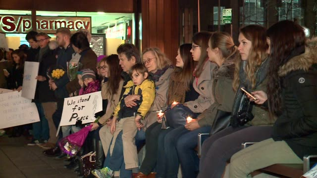 WGN Vigil For Paris Terrorist Attack Victims outside the French Consulate in Chicago on November 15 2015