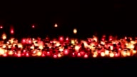 Vigil lights on memorial
