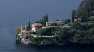 Villa Del Balbianello  - Aerial View - Lombardy, Provincia di Como, Lenno, Italy