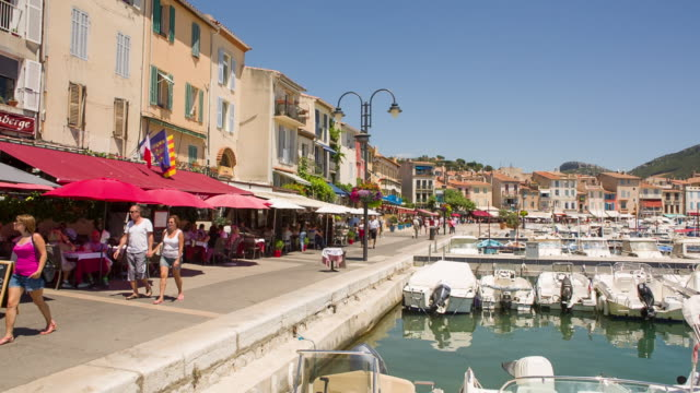 Village Cassis with harbor at Mediterranean Sea