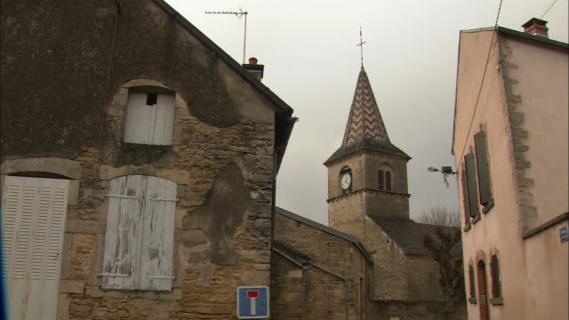 MS Village houses and church / Burgundy, France