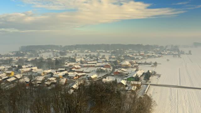 ANTENNE dorp in de winter
