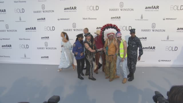 Village People at amfAR's 23rd Cinema Against AIDS Gala Arrivals at Hotel du CapEdenRoc on May 19 2016 in Cap d'Antibes France