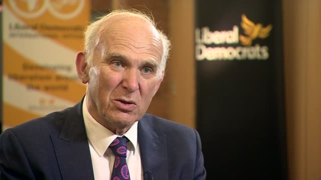 Dorset Bournemouth INT Sir Vince Cable MP interview SOT re Boris Johnson / Brexit / University tuition fees