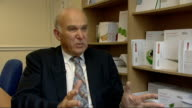 London Policy Exchange INT Vince Cable MP interview SOT On reform of UK employment laws and unfair dismissal proposals / our labour markets generally...