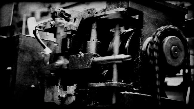 vintage east european machinery old film look