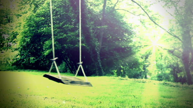 Vintage garden swing. Loopable.