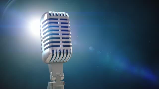 Vintage Microphone on Stage | Loopable - 4K