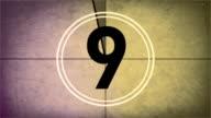 Vintage Old Film Countdown Leader