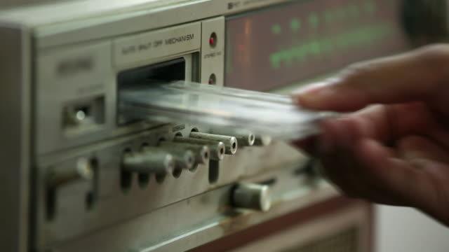 vintage radio playing