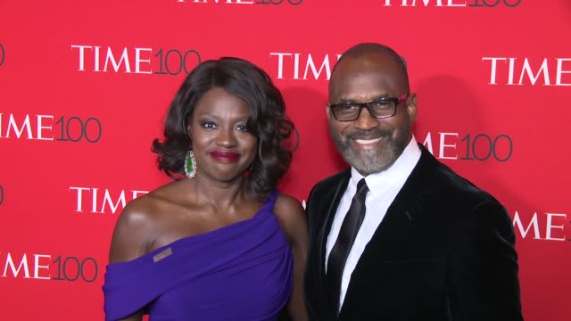 Viola Davis and Julius Tennon at 2017 Time 100 Gala at Jazz at Lincoln Center on April 25 2017 in New York City