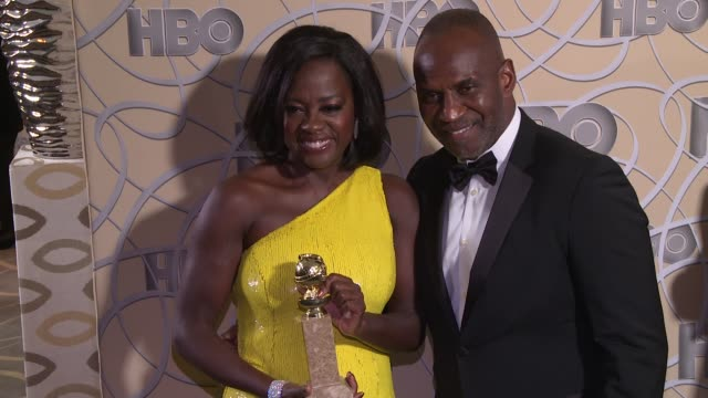 Viola Davis and Julius Tennon at HBO's Official 2017 Golden Globe Awards After Party Arrival at The Beverly Hilton Hotel on January 08 2017 in...
