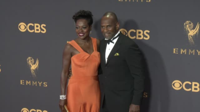 Viola Davis and Julius Tennon at the 69th Annual Primetime Emmy Awards at Microsoft Theater on September 17 2017 in Los Angeles California