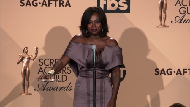 INTERVIEW Viola Davis at 22nd Annual Screen Actors Guild Awards Press Room in Los Angeles CA