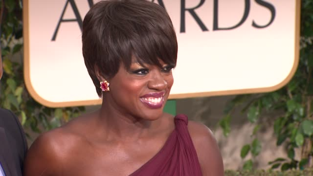 Viola Davis at 69th Annual Golden Globe Awards Arrivals on January 15 2012 in Beverly Hills California