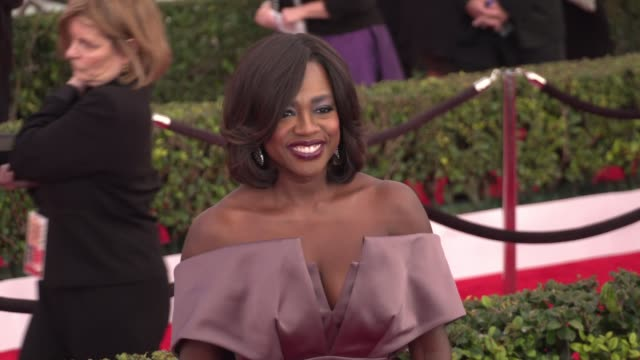 Viola Davis at the 22nd Annual Screen Actors Guild Awards Arrivals at The Shrine Auditorium on January 30 2016 in Los Angeles California 4K