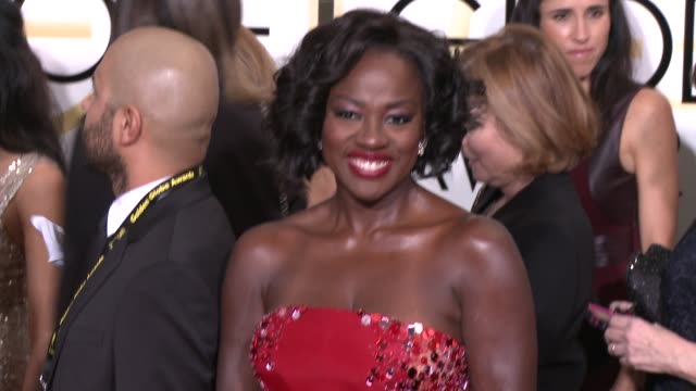 Viola Davis at the 72nd Annual Golden Globe Awards Arrivals at The Beverly Hilton Hotel on January 11 2015 in Beverly Hills California