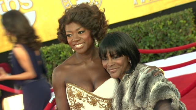 Viola Davis Cicely Tyson at 18th Annual Screen Actors Guild Awards Arrivals on 1/29/12 in Los Angeles CA