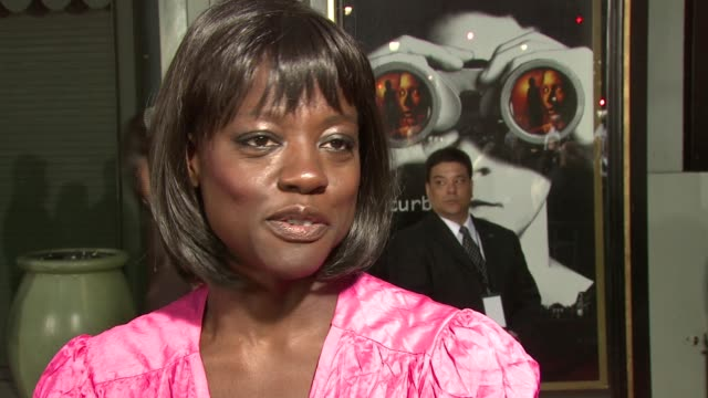 Viola Davis on her character in the film the different elements of the film and the film appealing to a wide audience at the 'Disturbia' Premiere at...