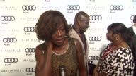 Viola Davis on kicking off Golden Globe week at this party what she's most looking forward to this evening what she thought of the Audi A8 at the...