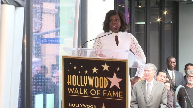 SPEECH Viola Davis on receiving her star at the Viola Davis Honored With Star On The Hollywood Walk Of Fame at Hollywood Walk Of Fame on January 5...