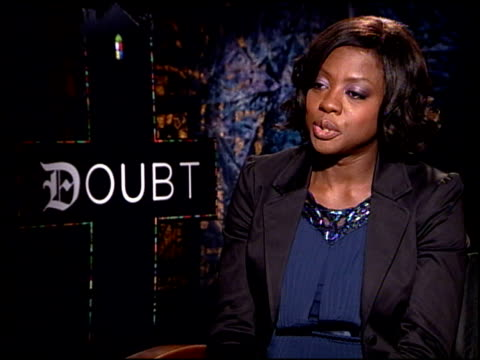 Viola Davis on the meaning of the film and the story behind it at the 'Doubt' junket at Los Angeles CA