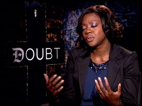 Viola Davis on what this project means to her and her experiences working on the film at the 'Doubt' junket at Los Angeles CA