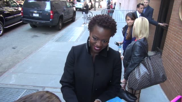 Viola Davis with fans at the 'Katie' studio Viola Davis with fans at the 'Katie' studio on September 19 2013 in New York New York