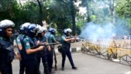 Violent protests break out in Bangladesh over the removal of a controversial justice statue deemed un Islamic by religious hardliners from outside...