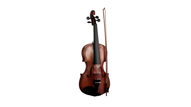 Violin spin isolated with luma matte loopable.