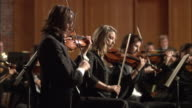 MS PAN Violinists performing in orchestra / London, United Kingdom