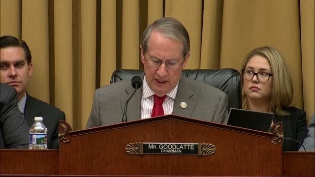 Virginia Congressman Bob Goodlatte tells Attorney General Jeff Sessions that his first year at the Department of Justice was not without difficulty...