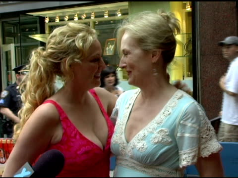 Virginia Madsen and Meryl Streep at the 'A Prairie Home Companion' New York Premiere at the DGA Theater in New York New York on June 4 2006