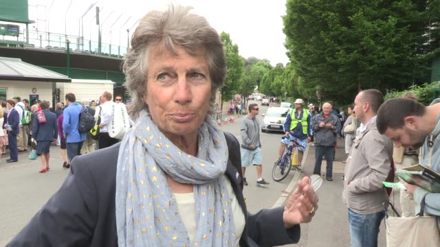 INTERVIEW Virginia Wade at Video Sightings at Wimbledon on June 24 2013 in London England