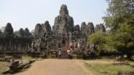MS Visitors at Bayon temple / Angkor Wat, Siem Reap, Cambodia