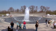 Visitors at National World War II Memorial in Washington, DC