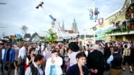 Visitors On Oktoberfest Fairgrounds (4K/UHD to HD)