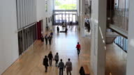 Visitors walk through the Kenneth and Anne Griffin Court in the Modern Wing at the Art Institute of Chicago on September 17 2014 in Chicago Illinois...