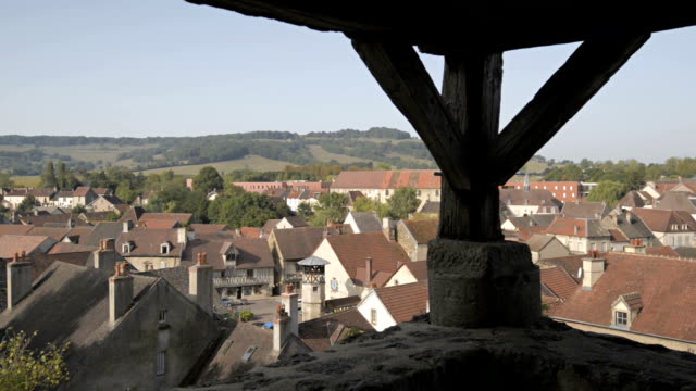 Vitteaux village rooftops