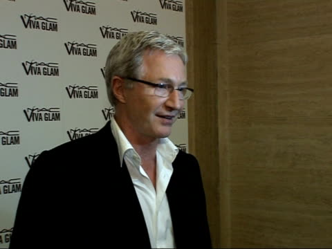 MAC Viva Glam Party for the MAC Aids fund Red carpet interviews Paul O'Grady speaking to press SOT On why he is attending / I'm a big fan of...