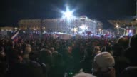 Vladimir Putin declares victory in Russia's presidential elections at a mass rally outside the Kremlin walls telling his voters they helped avert...