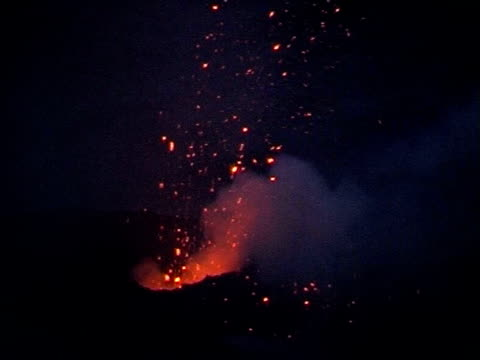 Volcanic eruptions on Mt. Etna, Sicily, Italy.