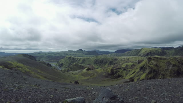 Volcanic landscape, 360 degree panoramic